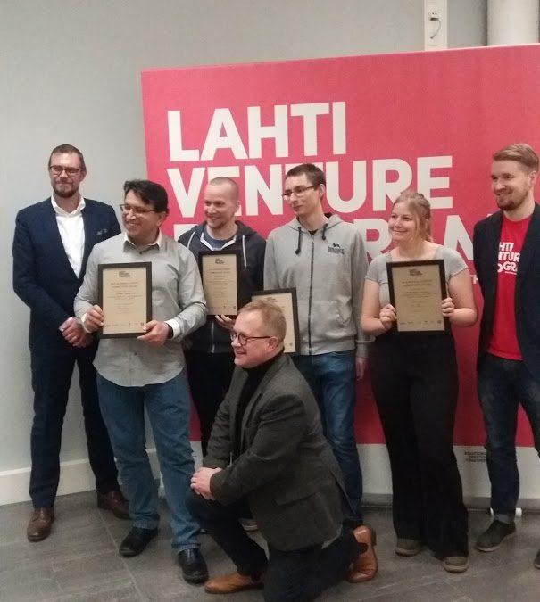 Muovijaloste Oy:n joukkueelle vuoden 2018 Lahti Venture Programin voitto