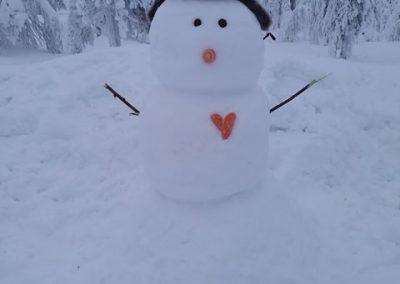 Ystävänpäivän lumiukko.